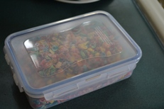 Cereal in a sealed container