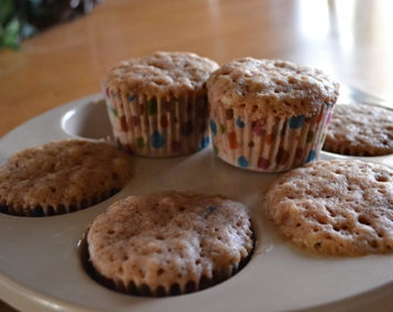 Microwave Applesauce Muffins