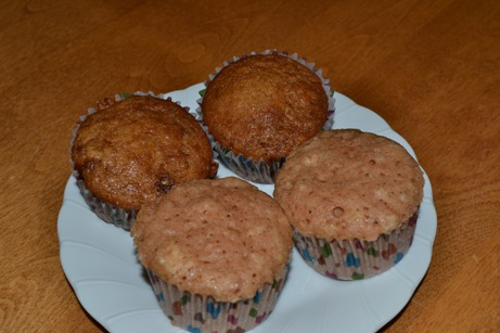 Microwave and Oven Muffins compared