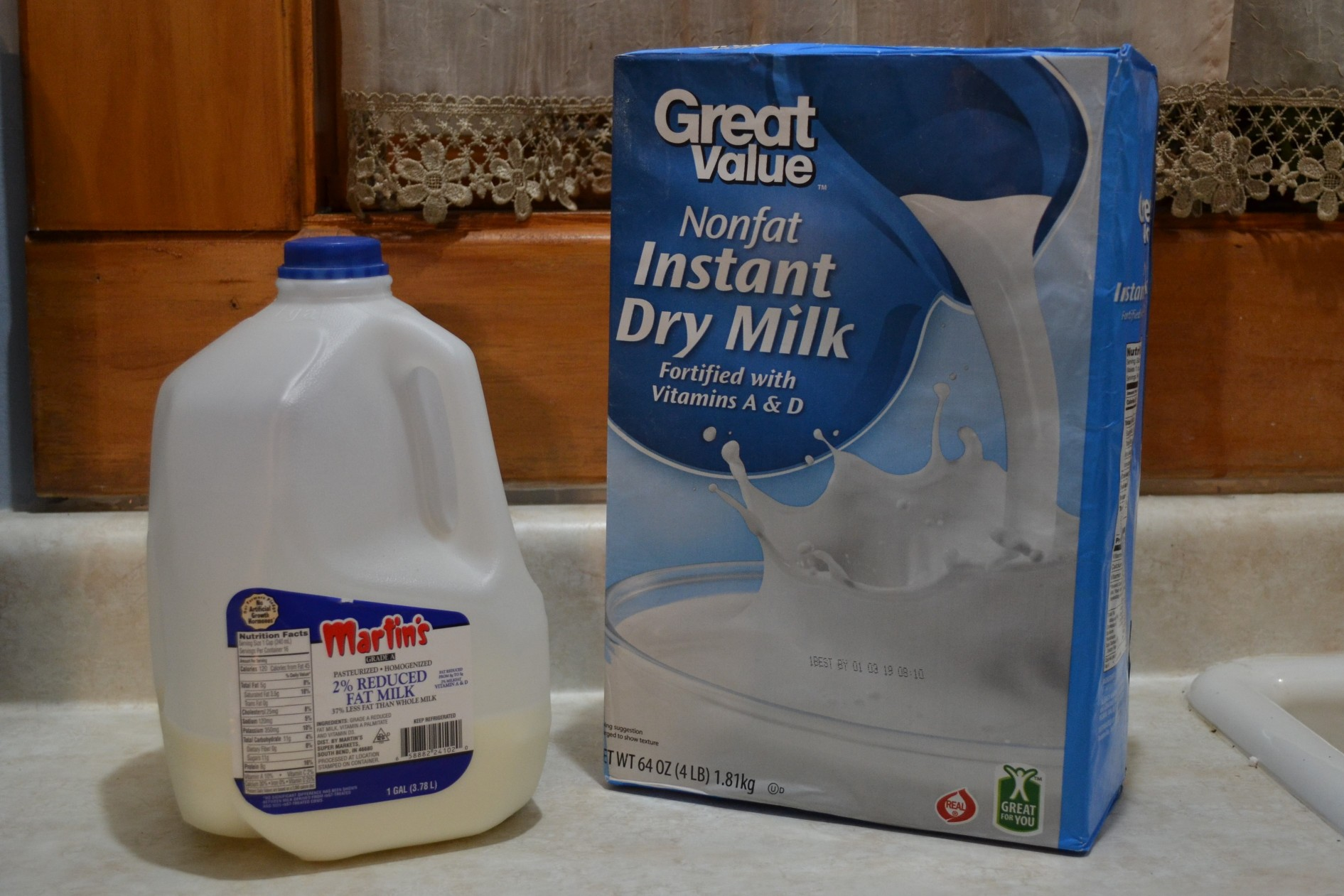 Carton of Milk and Box of Powdered Milk