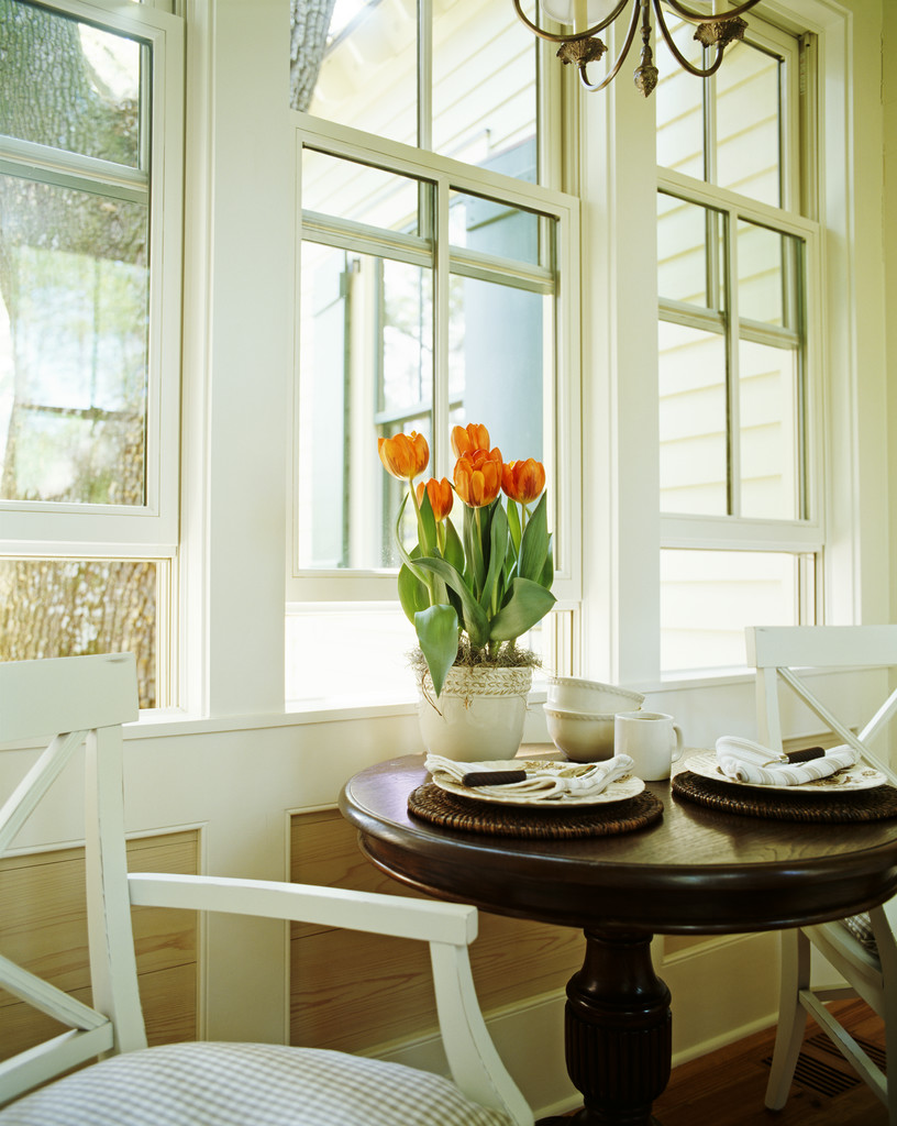 Table by White Windows