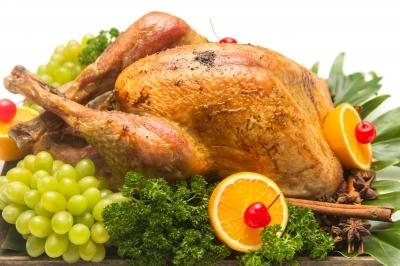 Roasted Turkey with garnishments